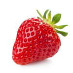 single_strawberry__isolated_on_a_white_background
